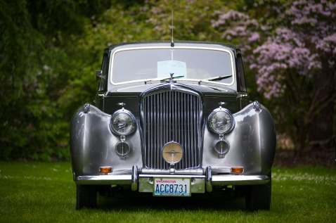 Vancouver, Canada - May 18, 2013: Historic Rolls Royce vehicle on display at the 2013 All-British Field Meet, at Vancouver's VanDusen Botanical Garden.