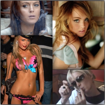 Lindsay Lohan and Paris Hilton toke up