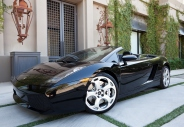 Scottsdale, United States - September 28, 2011: A photo of a black parked 2007 Lamborghini Gallardo. Lamborghini was founded in 1963 and is currently owned by Volkswagen.